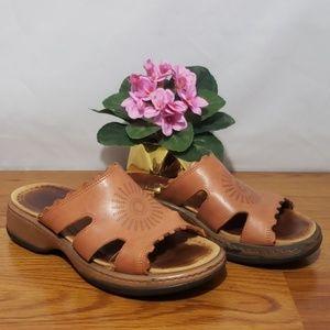 Dansko Brown Leather Slides Sandal SZ 37